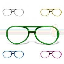 Óculos Metalizado RayBan sem Lente - Festabox