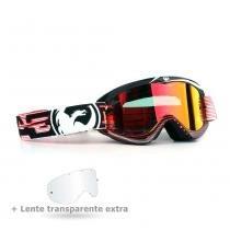 4add661099a97 Óculos Motocross Dragon MDX Nerve Red - Lente Vermelha Espelhada + Lente  Transparente -