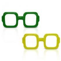 Óculos Quadrado Verde e Amarelo 12 unidades - Festabox