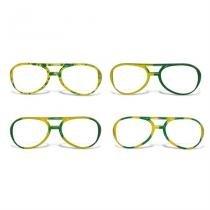 Óculos Rayban sem Lente Desenhado Plástico Verde e Amarelo 12 unidades Brasil - Festabox
