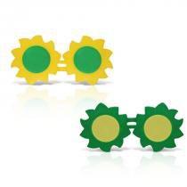Óculos Sol Plástico Verde e Amarelo 12 unidades Brasil - Festabox