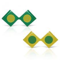 Óculos Triângulo Verde e Amarelo 12 unidades Brasil - Festabox