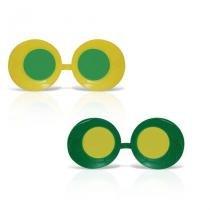 Óculos Zoião Verde e Amarelo 12 unidades Brasil - Festabox