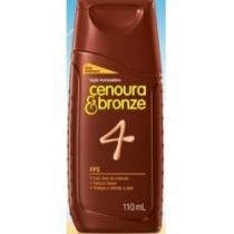 Óleo Bronzeador Cenoura  Bronze FPS4 Sem Perfume 110ml - CENOURA E BRONZE
