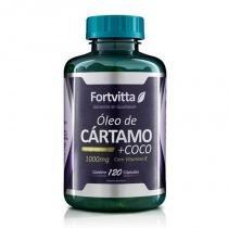 Óleo de Cártamo e Coco - 120 Cápsulas - Fortvitta -
