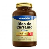 Óleo de Cártamo - Linoleic Acid (1000mg) 120 Softgels - Vitaminlife -