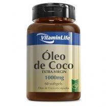 Óleo de Coco - 60 Cápsulas 1000mg - VitaminLife -