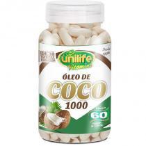 Óleo de Coco Extra Virgem 1200mg Unilife 60 cápsulas -