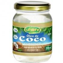 Óleo de Coco Extra Virgem 200ml Unilife -