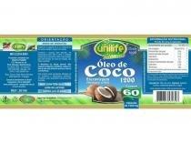 Óleo de Coco Extra Virgem 60 cápsulas Unilife -
