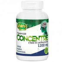 Oléo de lecitina de soja Concentre 120 cápsulas Unilife -