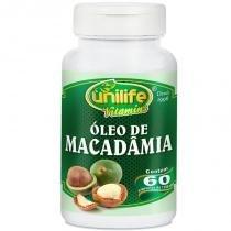 Óleo de Macadâmia 60 cápsulas Unilife - Unilife