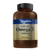 Óleo de Peixe ÔMEGA 3 1000mg - VitaminLife - 200 Softgels -
