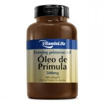 Óleo de Prímola EVENING PRIMOSE OIL 500mg    - VitaminLife - 100 Softgels - VitaminLife