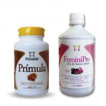 Óleo de Prímula 60 caps + FeminiPro 500ml - Prosaúde