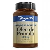 Óleo de Prímula EVENING PRIMOSE OIL 500mg - VitaminLife - 45 Softgels -