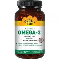 Omega 3 1000mg - Country Life - 100 Softgels -