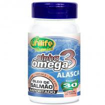 Ômega 3 Alpha Óleo de Salmão 1200mg 30 cápsulas Unilife - Unilife