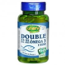 Ômega 3 Double1200mg 60 cápsulas Unilife - Unilife