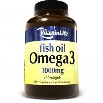 Ômega 3 - Óleo de Peixe (1000mg) 120 Softgels - Vitaminlife - 120 Cápsulas -