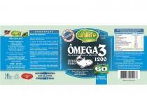 Ômega 3 óleo de peixe 1200mg 60 cápsulas Unilife - Unilife