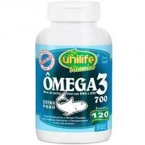 Ômega 3 óleo de peixe 700mg 120 cápsulas Unilife -