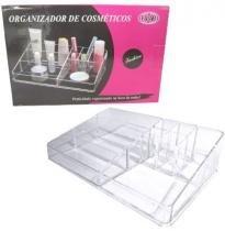Organizador De Cosmeticos Acrilico Com 9 Cavidades 32,5x20,8x9,3cm - Fwb