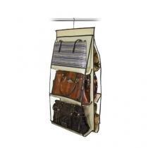Organizador para Bolsas Bege Cabide - VB Home