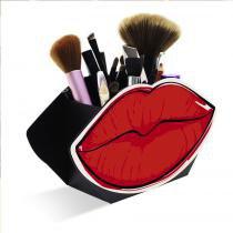 Organizador Porta Maquiagem Display Boca Vermelha - Geguton