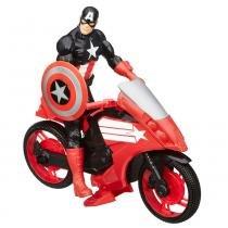 Os Vingadores Conjunto Veículo e Capitão America - Hasbro - Avengers