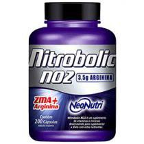 Óxido Nítrico (NO2) Nitrobolic ZMA+Arginina - 200 Cápsulas - Neo Nutri