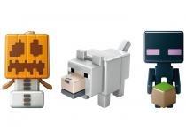 Pack 3 Figuras Minecraft - Mattel