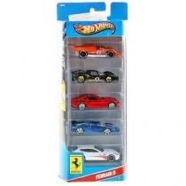Pack 5 Veículos Hot Wheels - Mattel