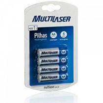 Pack c/ 4 Pilhas AA Recarregáveis 2500mAh Multilaser CB052 - Multilaser