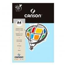 Pacote Canson Color Azul Claro 180g/m² A4 210 x 297 mm com 10 Folhas - 66661199 -