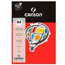 Pacote Canson Color Vermelho 180g/m² A4 210 x 297 mm com 10 Folhas - 66661193 -