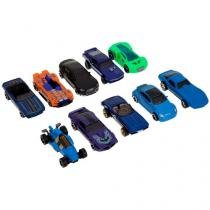 Pacote de 10 Carros Hot Weels Mattel - 54886