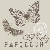 Pacote de guardanapos de papel papillon sand 33x33cm 20 folhas - Bololô