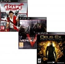 Pacote de Jogos com Escape Dead Island  PS3 + Armored Core Verdict Day PS3 + Deus Ex: Human R. PS3 - Square enix