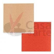 Páginas decoradas linha duo bolas repeteco salmão-vermelho - mostarda - cód. pl0110235 -