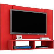 """Painel Bancada para TV até 48"""" Navi Vermelho - Móveis Bechara -"""