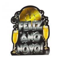 Painel Cartaz de Papel Feliz Ano Novo - Réveillon Paper Fest - Festabox