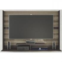 Painel Flash para TV de até 50 Polegadas - Caemmun - Nogueira/Capuccino - Caemmun