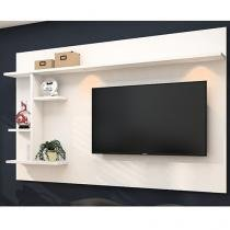 """Painel para TV até 60"""" Moema 5 Prateleiras - 2 Luminárias LED Made Marcs"""