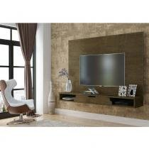 Painel para Tv Los Angeles Imbuia - RV Móveis - Gris/Black - Rv Móveis