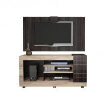 Painel para TV Ultra com Rack Goya - Caemmun - Montreal / Capuccino - Caemmun