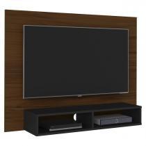 Painel Tv Até 40 Polegadas Flash Imbuia Amêndoa E Preto Artely -