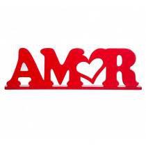 Palavra Decorativa Amor P Vermelho - Geton Concept - Vermelho - Geton Concept
