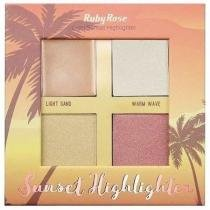 Paleta De Iluminador Light Sunset Highlighter - Ruby Rose Hb -7504 -