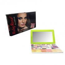 Paleta de Maquiagem Tipo Notebook 75 Sombras Pincel Ruby Rose Verde (HB-9334) -